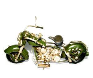 אופנוע הארלי ירוק