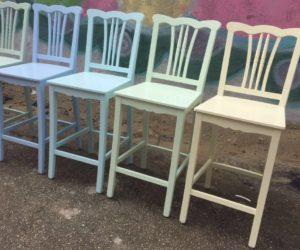 כיסא בר גב גלי