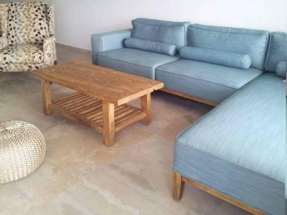 סלון מעץ שולחן